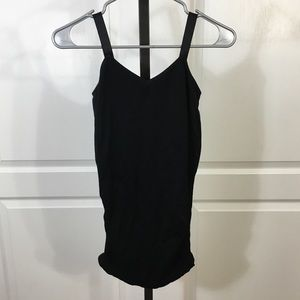Black maternity tank top